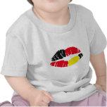 bandera Alemania del lápiz labial Camisetas
