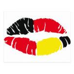 bandera Alemania del lápiz labial Postales
