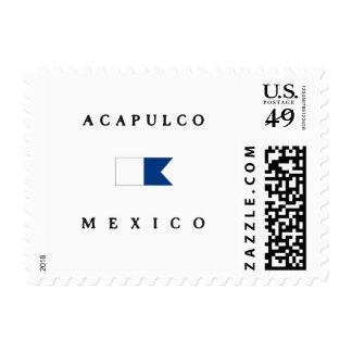 Bandera alfa de la zambullida de Acapulco México Sellos