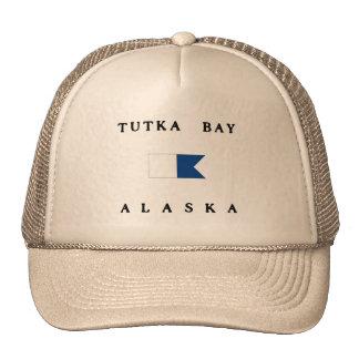 Bandera alfa de la zambullida de Alaska de la bahí Gorros