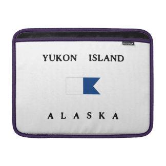 Bandera alfa de la zambullida de Alaska de la isla Fundas Para Macbook Air