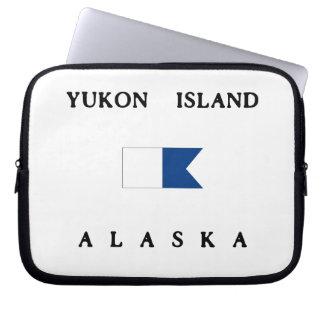 Bandera alfa de la zambullida de Alaska de la isla Funda Computadora