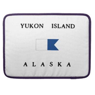 Bandera alfa de la zambullida de Alaska de la isla Funda Para Macbooks