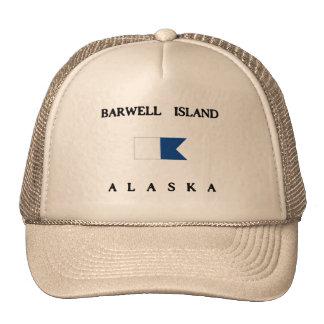 Bandera alfa de la zambullida de Alaska de la isla Gorras