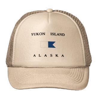 Bandera alfa de la zambullida de Alaska de la isla Gorro De Camionero