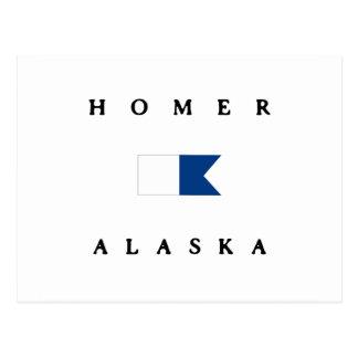 Bandera alfa de la zambullida de Alaska del home Tarjetas Postales