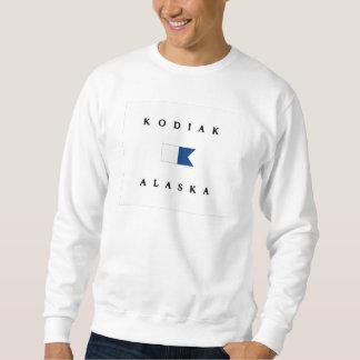 Bandera alfa de la zambullida de Alaska del Kodiak Sudadera