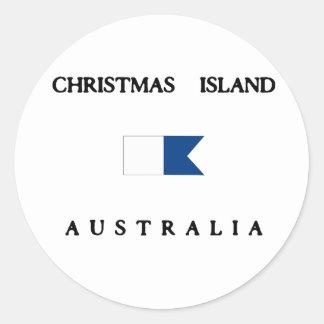 Bandera alfa de la zambullida de Australia de la Pegatina Redonda