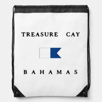 Bandera alfa de la zambullida de Bahamas de la isl Mochilas