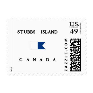 Bandera alfa de la zambullida de Canadá de la isla Sellos