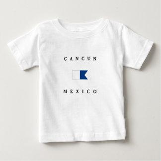Bandera alfa de la zambullida de Cancun México Playera De Bebé