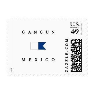 Bandera alfa de la zambullida de Cancun México Envio