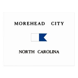 Bandera alfa de la zambullida de Carolina del Postal