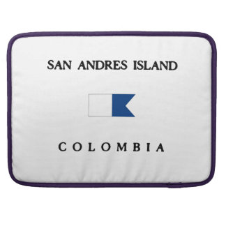 Bandera alfa de la zambullida de Colombia de la Fundas Macbook Pro