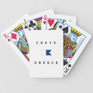 Bandera alfa de la zambullida de Creta Grecia