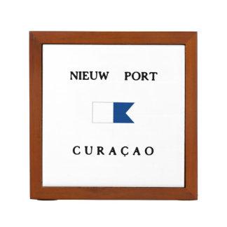 Bandera alfa de la zambullida de Curaçao del puert