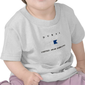 Bandera alfa de la zambullida de Dubai United Arab Camisetas