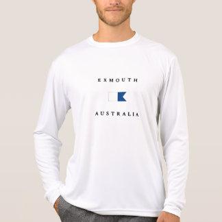 Bandera alfa de la zambullida de Exmouth Australia Camiseta