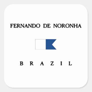 Bandera alfa de la zambullida de Fernando de Pegatina Cuadrada