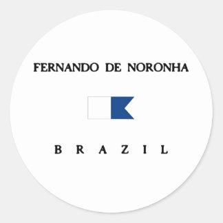 Bandera alfa de la zambullida de Fernando de Pegatina Redonda