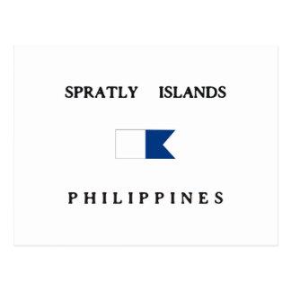 Bandera alfa de la zambullida de Filipinas de las Tarjetas Postales