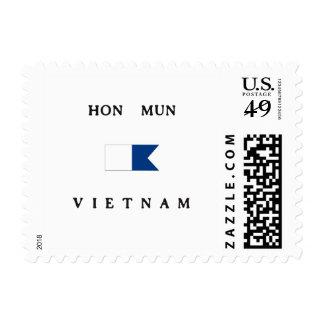 Bandera alfa de la zambullida de Hon Mun Vietnam Franqueo
