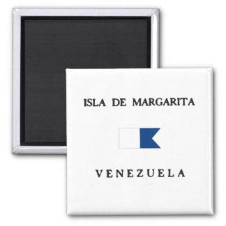 Bandera alfa de la zambullida de Isla de Margarita Imán Cuadrado
