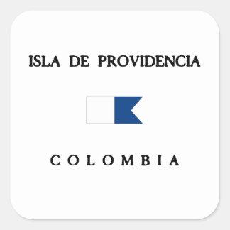 Bandera alfa de la zambullida de Isla De Pegatina Cuadrada