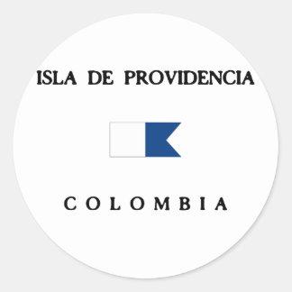 Bandera alfa de la zambullida de Isla De Pegatina Redonda