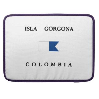 Bandera alfa de la zambullida de Isla Gorgona Fundas Macbook Pro