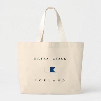 Bandera alfa de la zambullida de Islandia de la Bolsa De Mano