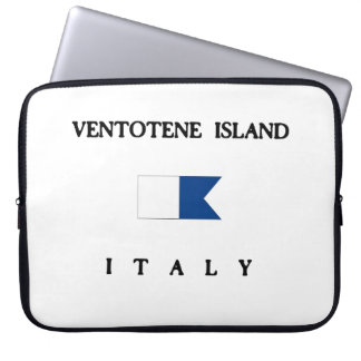 Bandera alfa de la zambullida de Italia de la isla Fundas Computadoras