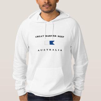 Bandera alfa de la zambullida de la gran barrera sudadera pullover