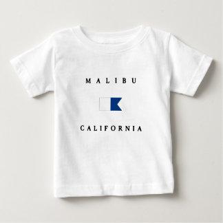 Bandera alfa de la zambullida de Malibu California Playera Para Bebé