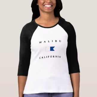 Bandera alfa de la zambullida de Malibu California Poleras