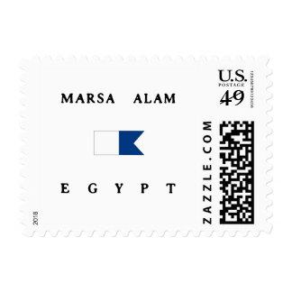 Bandera alfa de la zambullida de Marsa Alam Egipto Franqueo