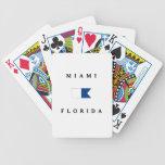 Bandera alfa de la zambullida de Miami la Florida