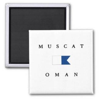 Bandera alfa de la zambullida de Muscat Omán Imanes