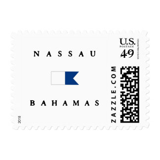 Bandera alfa de la zambullida de Nassau Bahamas Sello