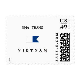 Bandera alfa de la zambullida de Nha Trang Vietnam Sello