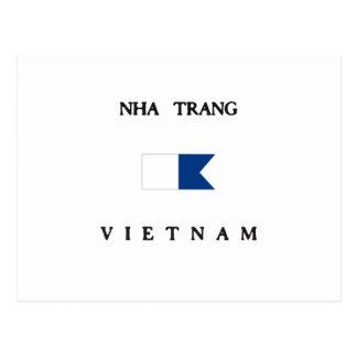 Bandera alfa de la zambullida de Nha Trang Vietnam Tarjetas Postales