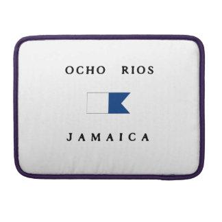 Bandera alfa de la zambullida de Ocho Rios Jamaica Fundas Macbook Pro