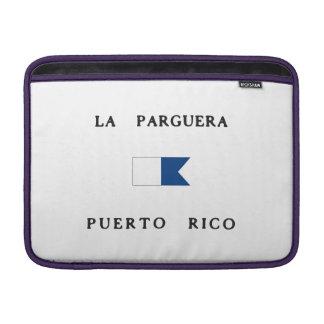 Bandera alfa de la zambullida de Parguera Puerto Funda Macbook Air