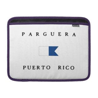 Bandera alfa de la zambullida de Parguera Puerto Fundas MacBook