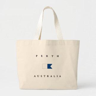 Bandera alfa de la zambullida de Perth Australia Bolsas De Mano