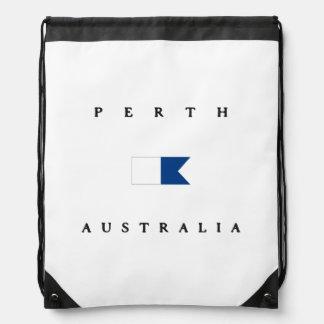 Bandera alfa de la zambullida de Perth Australia Mochilas