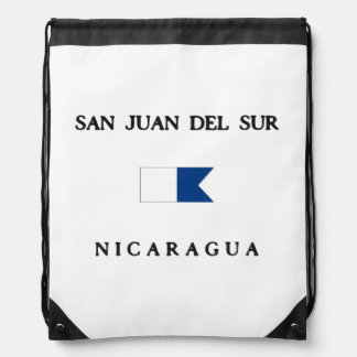 Bandera alfa de la zambullida de San Juan Del Sur Mochilas