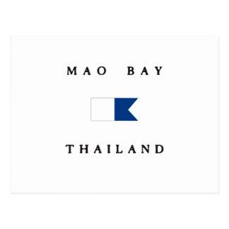 Bandera alfa de la zambullida de Tailandia de la Tarjeta Postal