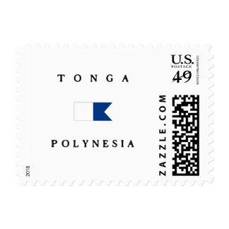 Bandera alfa de la zambullida de Tonga Polinesia Envio