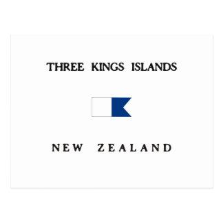 Bandera alfa de la zambullida de tres reyes tarjeta postal